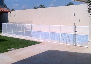 White Pool Fence